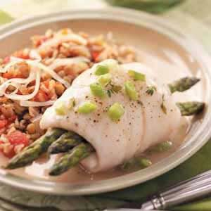 Asparagus Fish Bundles Recipe