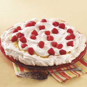 Raspberry Lemon Pavlova