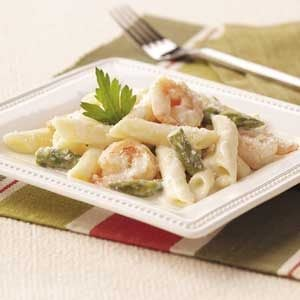 Shrimp and Asparagus Penne Recipe