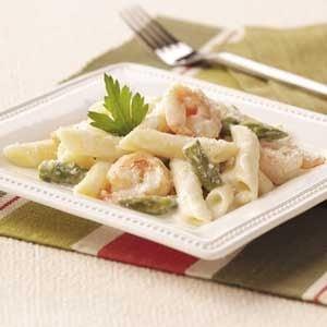 Shrimp and Asparagus Penne Recipe