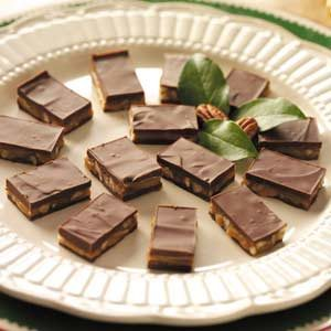 Caramel-Nut Candy Bars Recipe
