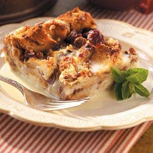 Bread Pudding with White Chocolate Sauce Recipe