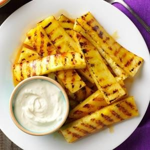 Grilled Pineapple with Lime Dip Recipe