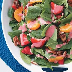 Spinach Salad with Strawberry Vinaigrette Recipe
