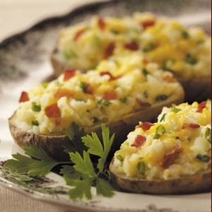 Bacon 'n' Cheese Stuffed Potatoes Recipe