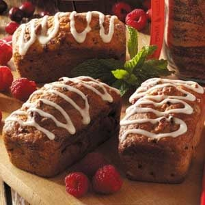 Raspberry-Pecan Mini Loaves Recipe