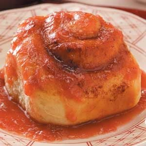 Homemade Rhubarb Sticky Buns Recipe