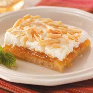 Peach Almond Bars Recipe