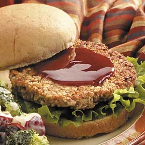 Barbecue Nut Burgers Recipe