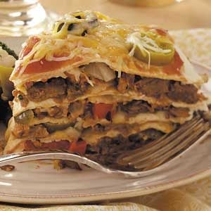 Vegetarian Tortilla Stack Recipe