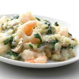 Shrimp 'n' Spinach Risotto Recipe