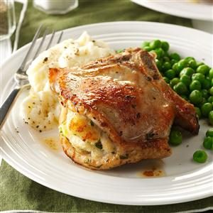Company Stuffed Pork Chops Recipe