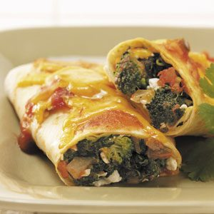 Spinach 'n' Broccoli Enchiladas Recipe
