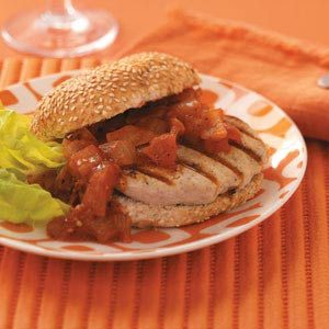 Turkey Burgers with Sweet Onion Relish Recipe