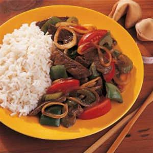 Green Pepper Steak Recipe