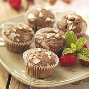 Raspberry-Chocolate Mini Muffins Recipe