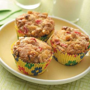 Rhubarb Cream Muffins Recipe