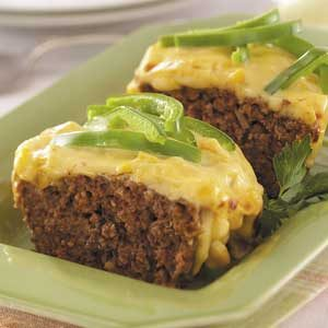 Corn-Topped Meat Loaf Recipe