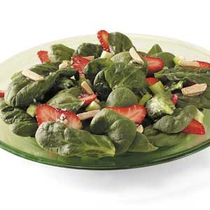 Strawberry Spinach Salad with Sesame-Poppy Seed Dressing