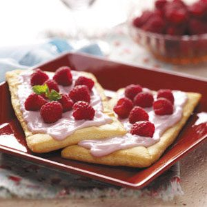 Raspberry Yogurt Pastries Recipe