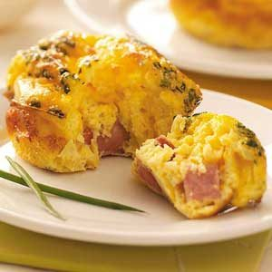 Mini Ham 'n' Cheese Frittatas