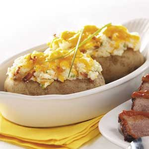 Twice-Baked Potatoes with Bacon Recipe