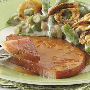 Apricot-Glazed Ham Steak