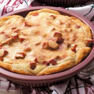 Rhubarb Biscuit Coffee Cakes Recipe