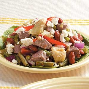 Mediterranean Lamb and Bean Salad Recipe