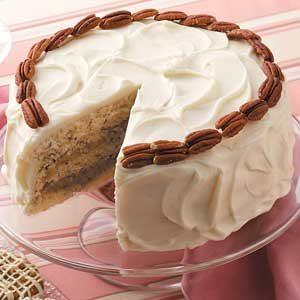 Coconut-Filled Nut Torte Recipe