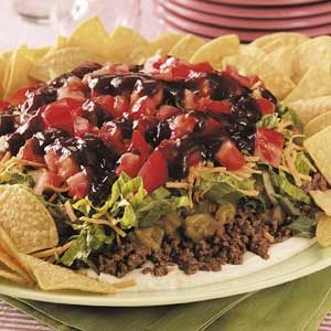 Barbecue Beef Taco Plate Recipe
