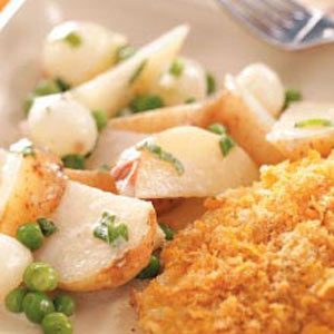 Potatoes, Peas & Pearl Onions Recipe