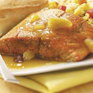 Salmon with Curry Chutney Sauce Recipe