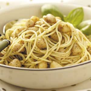 Scallops Pesto with Vermicelli Recipe