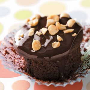 Peanut-Filled Devil's Food Cupcakes Recipe