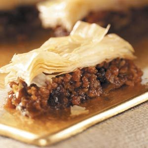 Raisin Pecan Baklava Recipe