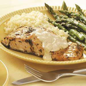 Grilled Salmon with Tartar Sauce Recipe