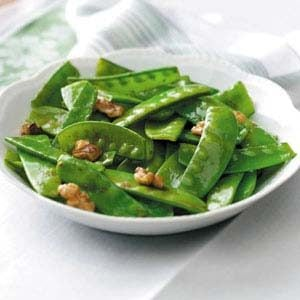 Snow Pea and Walnut Stir Fry Recipe