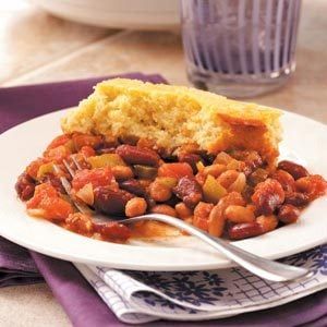 Corn Bread-Topped Frijoles
