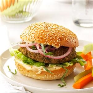 Chickpea 'n' Red Onion Burgers Recipe