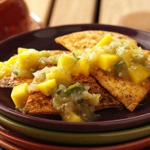 Spiced Chips and Roasted Tomatillo Salsa Recipe