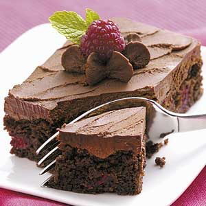 Truffle Raspberry Brownies Recipe