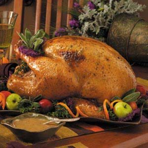 Maple-Butter Turkey with Gravy Recipe