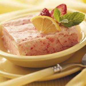 Frosty Lemon-Strawberry Dessert Recipe