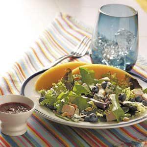 Turkey Salad with Blueberry Vinaigrette Recipe
