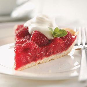Raspberry-Glazed Pie