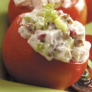 Chicken Salad in Tomato Cups Recipe