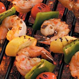 Shrimp and Vegetable Kabobs Recipe