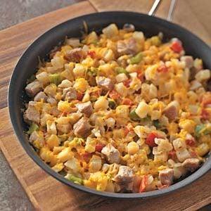 Hash Brown Pork Skillet Recipe