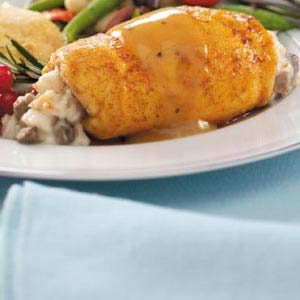 Marsala Crab-Stuffed Chicken Breasts Recipe